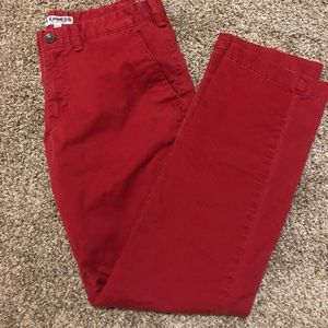 Red Express chino pants